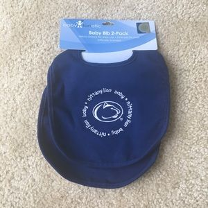 Baby Fanatic Penn State Bibs - Set of 2 New w Tags